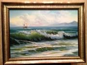 Картина маслом.Морской пейзаж.